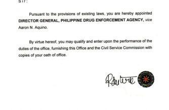 Wilkins Villanueva is the new PDEA director-general./Wilkins Villanueva FB/