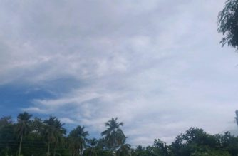 Cloudy skies in Motiong, Samar as of Wednesday morning, May 13, 2020 (Photo taken by Eagle News Service correspondent Al Jurada)