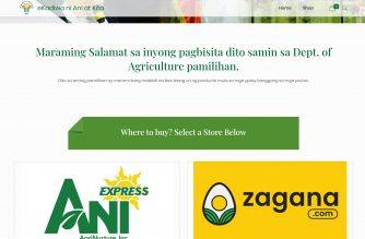 "screengrab of Department of Agriculture's ""eKadiwa"" online store at http://www.ekadiwa.da.gov.ph/ (Courtesy DA)"