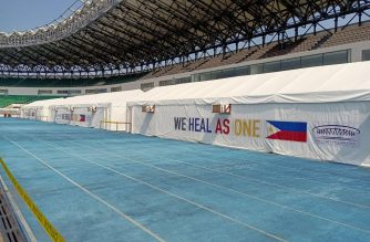 The mega swabbing facility at the Philippine Sports Stadium inside Ciudad de Victoria in Bocaue, Bulacan (Photo by Earlo Bringas, Eagle News Service)