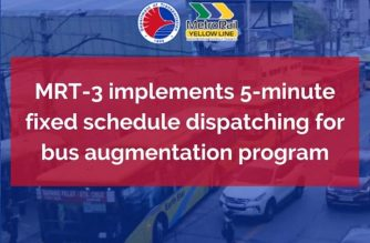 Buses under MRT-3 augmentation program implement 5-minute fixed-interval schedule dispatching