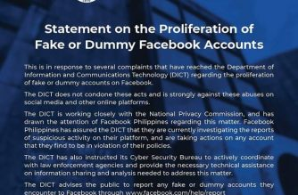 DICT to public: Report fake Facebook accounts