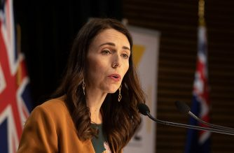New Zealand's Prime Minister Jacinda Ardern speaks during a press conference about the COVID-19 coronavirus at Parliament in Wellington on June 8, 2020. - New Zealand has no active COVID-19 cases after the country's final patient was given the all clear and released from isolation, health authorities said on June 8. (Photo by Marty MELVILLE / AFP)