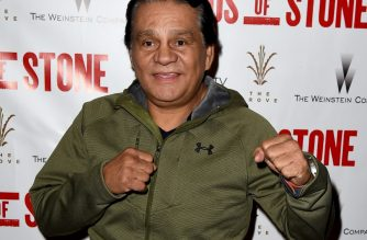 "LOS ANGELES, CA - AUGUST 15: Former professional boxer Roberto Duran arrives at a screening of the Weinstein Company's ""Hands of Stone"" at the Pacific Theatres at The Grove on August 15, 2015 in Los Angeles, California.   Kevin Winter/Getty Images/AFP"