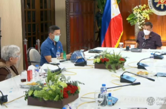 President Duterte has approved the DepEd's recommendation to hold  face-to-face classes in low-risk areas for COVID-19 but on a limited basis./PCOO/