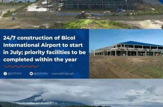 24/7 construction of the Bicol International Airport will start in July, the Department of Transportation said./DOTr/