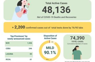 COVID-19 cases reached 74390 in the country after the DOH reported 2200 cases on Thursday, July 23./DOH/