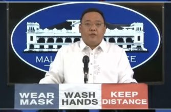 Presidential Spokesperson Harry Roque holds a press briefing on Monday, July 10, 2020. (Screengrab of PCOO video/Courtesy PCOO)