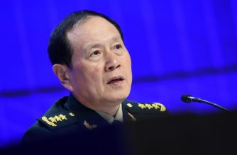 China's Defence Minister Wei Fenghe attends the IISS Shangri-La Dialogue summit in Singapore on June 2, 2019. (Photo by ROSLAN RAHMAN / AFP)
