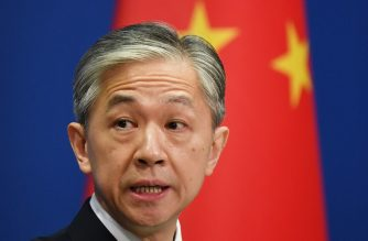 Chinese Foreign Ministry spokesman Wang Wenbin speaks about the order to close the US consulate in Chengdu, at the daily Foreign Ministry briefing in Beijing on July 24, 2020. - China on July 24 ordered the US consulate in the southwestern city of Chengdu to close in retaliation for one of its missions in the United States being shuttered, capping a furious week of Cold War-style diplomacy. (Photo by GREG BAKER / AFP)