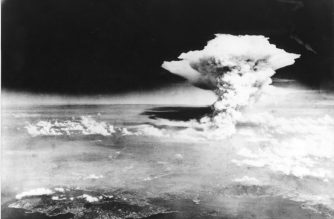 "(FILES) This handout file picture taken on August 6, 1945 by the US Army and released via the Hiroshima Peace Memorial Museum shows a mushroom cloud of the atomic bomb dropped by the B-29 bomber Enola Gay over the city of Hiroshima. - Japan on August 6, 2020 will mark 75 years since the world's first atomic bomb attack, with the COVID-19 coronavirus pandemic forcing a scaling back of annual ceremonies to commemorate the victims. (Photo by Handout / various sources / AFP) / ---EDITORS NOTE---  RESTRICTED TO EDITORIAL USE - MANDATORY CREDIT ""AFP PHOTO / HIROSHIMA PEACE MEMORIAL MUSEUM"" - NO MARKETING NO ADVERTISING CAMPAIGNS - DISTRIBUTED AS A SERVICE TO CLIENTS"