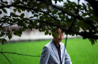In this picture taken on July 25, 2020, 74-year-old Jiro Hamasumi, whose mother was pregnant with him in Hiroshima when the atomic bomb struck in 1945, walks during a photo session with AFP in Tokyo. - As Japan marks 75 years since the devastating attacks on Hiroshima and Nagasaki, the last generation of nuclear bomb survivors are working to ensure their message lives on after them. Jiro's knowledge of the Hiroshima attack comes from the accounts of his siblings, who described the dizzying flash and ear-splitting roar that formed the first indication the bomb known as Little Boy had detonated. (Photo by Behrouz MEHRI / AFP) / TO GO WITH Japan-US-nuclear-history-diplomacy-WWII-Hiroshima-Nagasaki,FOCUS by Kyoko HASEGAWA