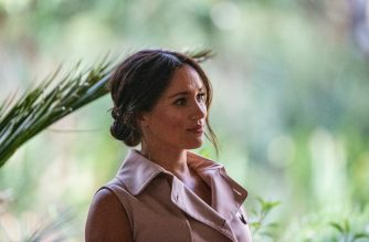 "(FILES) In this file photo taken on October 02, 2019 Meghan, the Duchess of Sussex arrives at the British High Commissioner residency where she  will meet with Graca Machel, widow of former South African president Nelson Mandela, in Johannesburg. - Meghan Markle, the wife of Prince Harry, on August 20 broke from protocol normally followed by British royals in calling for a ""change"" in the upcoming US presidential election. Her comments came during a virtual ""voter registration couch party"" organized by When We All Vote, an outreach group co-chaired by former first lady Michelle Obama, actor Tom Hanks and others to increase participation at the polls. (Photo by Michele Spatari / AFP)"