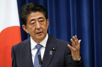 Japanese Prime Minister Shinzo Abe speaks during his press conference at the prime minister official residence in Tokyo on August 28, 2020. - Japan's Prime Minister Shinzo Abe announced on August 28, 2020 he will resign over health problems, in a bombshell development that kicks off a leadership contest in the world's third-largest economy. (Photo by Franck ROBICHON / POOL / AFP)
