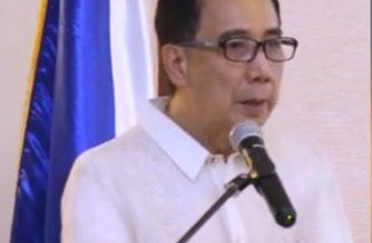 File photo:  Agriculture Secretary WIlliam Dar.  (Photo grabbed from DA video/Courtesy DA)