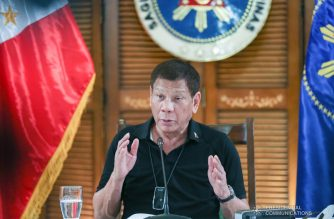 President Rodrigo Roa Duterte talks to the people after holding a meeting with the Inter-Agency Task Force on the Emerging Infectious Diseases (IATF-EID) core members at the Matina Enclaves in Davao City on August 17, 2020. SIMEON CELI JR./PRESIDENTIAL PHOTO