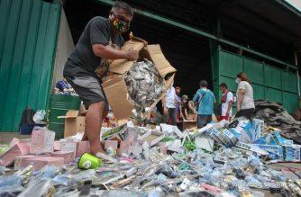 The BOC has destroyed around P500 million worth of fake goods./Customs bureau/