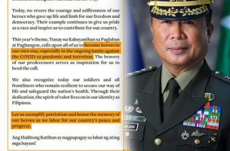 Army Chief Sobejana to Filipinos: Let us be heroes in our own way