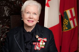The Lt. Governor of Ontario Canada Elizabeth Dowdeswell greets the Iglesia Ni Cristo (Church Of Christ) on its 106th anniversary