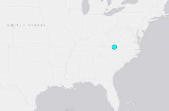 Rare quake shakes North Carolina
