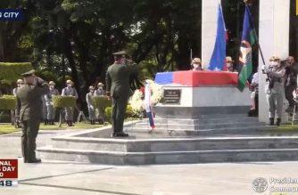 Lt. Gen. Gilbert Gapay, AFP chief of staff, represented President Rodrigo Duterte in celebrating National Heroes Day at the Libingan ng mga Bayani on Monday, Aug. 31./PCOO/