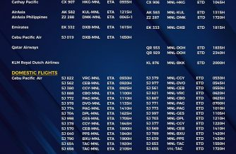 MIAA releases list of operational commercial flights for Monday, Aug. 3
