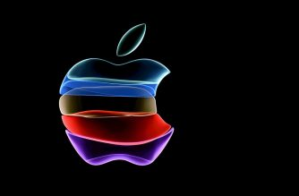 (FILES) In this file photo the apple logo is projected on a screen before the start of a product launch event at Apple's headquarters in Cupertino, California, on September 10, 2019. - Apple on September 8, 2020 fired off invitations to a September 15 online event expected to introduce a new-generation iPhone tailored for superfast 5G telecom networks. The typically tight-lipped technology titan revealed only that the presentation would be streamed starting at 1700 GMT from its headquarters in Silicon Valley. (Photo by Josh Edelson / AFP)