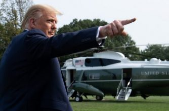 (FILES) In this file photo taken on September 15, 2020 US President Donald Trump walks to Marine One prior to departing from the South Lawn of the White House in Washington, DC, as he travels to Philadelphia, Pennsylvania for a town hall. - US President Donald Trump, falling behind in the polls against Democrat Joe Biden ahead of the November election, on September 16, 2020 urged his Republican Party to back a big-spending coronavirus stimulus package. (Photo by SAUL LOEB / AFP)