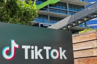(FILES) In this file photo taken on August 11, 2020 the logo of Chinese video app TikTok is seen on the side of the company's new office space at the C3 campus in Culver City, California. - US officials on September 18, 2020, ordered a ban on downloads of the popular Chinese-owned mobile applications WeChat and TikTok from September 20, saying they threaten national security. The move comes amid rising US-China tensions over technology and a Trump administration effort to engineer a sale of the video app TikTok to American investors. (Photo by Chris DELMAS / AFP)