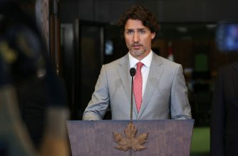 (FILES) In this file photo Canada's Prime Minister Justin Trudeau speaks during a news conference on Parliament Hill August 18, 2020 in Ottawa, Canada. - Prime Minister Justin Trudeau will lay out on September 23, 2020 a new post-pandemic direction for Canada that will test his minority government's support in parliament in the coming weeks. Trudeau had hinted his so-called throne speech would herald grand New Deal-style reforms, with a focus on implementing climate measures and addressing social inequalities laid bare by the Covid-19 outbreak. (Photo by Dave Chan / AFP)