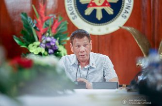 President Rodrigo  Duterte talks to the people after holding a meeting with the Inter-Agency Task Force on the Emerging Infectious Diseases (IATF-EID) core members at the Malago Clubhouse in Malacañang on September 7, 2020. KARL NORMAN ALONZO/PRESIDENTIAL PHOTO