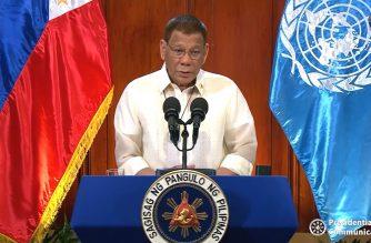 President Rodrigo Duterte addresses UN General Assembly on Sept. 22, 2020 (New York time)/Screengrab of PCOO/RTVM video (Courtesy PCOO/RTVM/Malacanang)