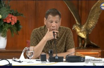 President Rodrigo Duterte addreses the nation once again during his meeting with the Inter-Agency Task Force on Emerging Infectious Diseases (IATF-EID) and his cabinet members on Sept. 28, 2020 in Malacanang. (Screengrab from RTVM video/Courtesy RTVM/Malacanang)