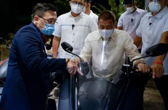 In photos: President Duterte on board a motorcycle