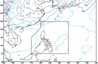 Southwest monsoon affecting western section of Luzon