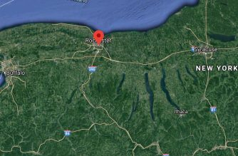 Screenshot of Google map showing Rochester, USA (Courtesy Google map)
