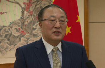Zhang Jun, China's ambassador to the United Nations (Sceengrab courtesy Agence France Presse)