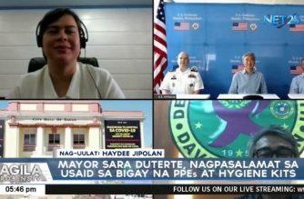 Davao City Mayor Sara Duterte, nagpasalamat sa USAID sa binigay na PPEs at hygiene kits