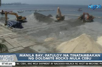 DENR pushes through beautification of Manila Bay; shoreline to be filled with crushed dolomite rocks from Cebu