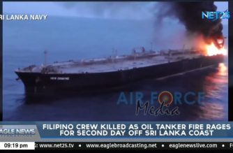 Filipino crewman killed as oil tanker fire rages off Sri Lanka coast