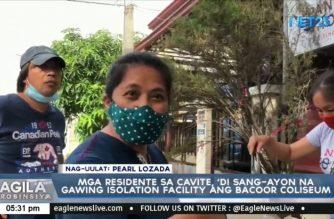 Mga residente sa Cavite, 'di sang-ayon na gawing isolation facility ang Bacoor Coliseum