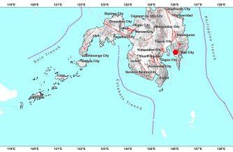 3.7-magnitude quake hits Davao Oriental early Tuesday