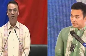Combination photos of House Speaker Allan Peter Cayetano and Marinduque Rep. Lord Allan Jay Velasco both laying claim to the speakership post of the House of Representatives.  (Eagle News Service)