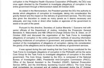 DOJ to invite COA, CSC, Ombudsman in task force probe of corruption in gov't