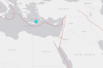 Two earthquakes strike off Greek island of Crete