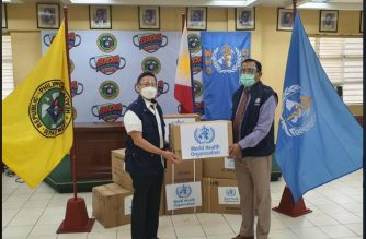 The World Health Organization donates more than a million pieces of Personal Protective Equipment (PPE) for the Philippines to the Department of Health (Photo courtesy DOH Facebook)