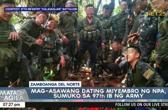 Army achieves gains with surrender of NPA couple, recovers arms cache in Zambo del Norte