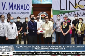Iglesia Ni Cristo gives 10,000 relief packs to City of Manila