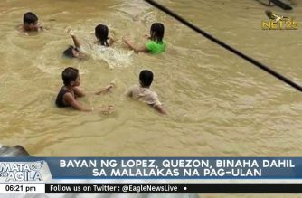 Lopez town in Quezon province flooded after heavy rains