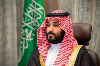"A handout picture provided by the Saudi Royal Palace on November 12, 2020, shows Saudi Crown Prince Mohammed bin Salman attending a video meeting with the Shura council in the capital Riyadh. (Photo by Bandar AL-JALOUD / Saudi Royal Palace / AFP) / RESTRICTED TO EDITORIAL USE - MANDATORY CREDIT ""AFP PHOTO / SAUDI ROYAL PALACE / BANDAR AL-JALOUD"" - NO MARKETING - NO ADVERTISING CAMPAIGNS - DISTRIBUTED AS A SERVICE TO CLIENTS"